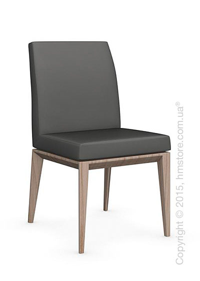 Стул Calligaris Bess Low, Ashwood natural and Leather taupe
