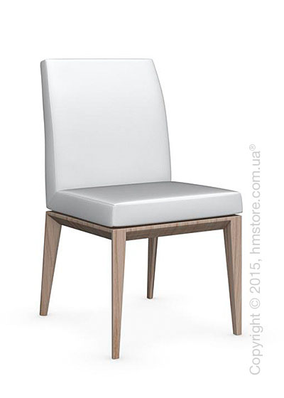 Стул Calligaris Bess Low, Ashwood natural and Gummy coating optic white