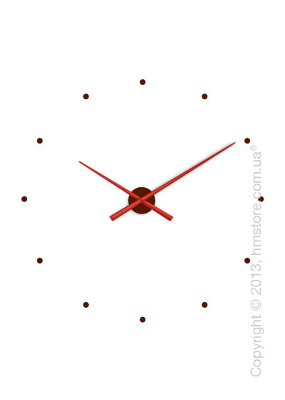 Часы настенные Nomon OJ Mixto Wall Clock, Red and Chocolate