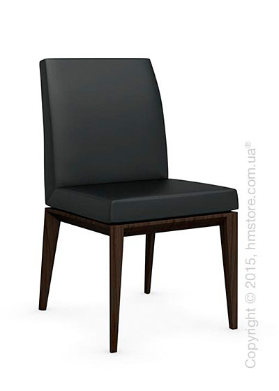 Стул Calligaris Bess Low, Ashwood smoke and Leather black