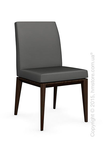 Стул Calligaris Bess Low, Ashwood smoke and Leather taupe
