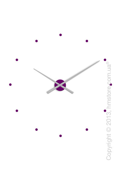 Часы настенные Nomon OJ Mixto Wall Clock, Silver and Purple