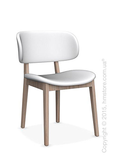 Стул Calligaris Claire, Ashwood natural and Leather optic white