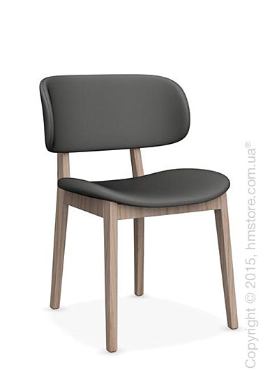 Стул Calligaris Claire, Ashwood natural and Leather taupe