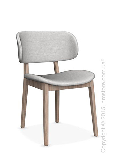 Стул Calligaris Claire, Ashwood natural and Denver fabric sand