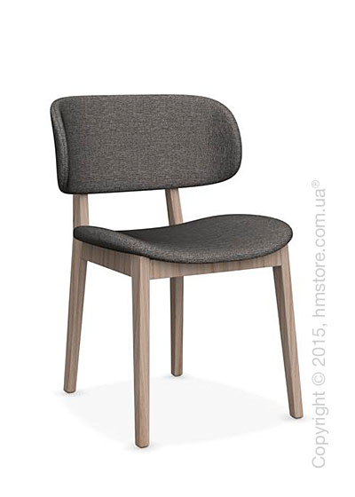 Стул Calligaris Claire, Ashwood natural and Denver fabric taupe