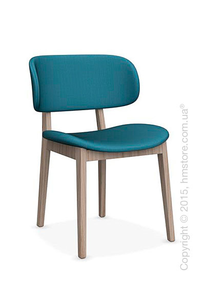 Стул Calligaris Claire, Ashwood natural and Oslo fabric acquamarine