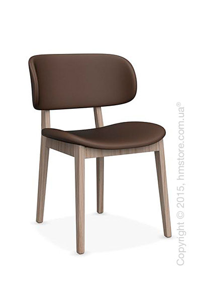 Стул Calligaris Claire, Ashwood natural and Leather antilope brown