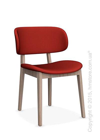 Стул Calligaris Claire, Ashwood natural and Oslofabricred