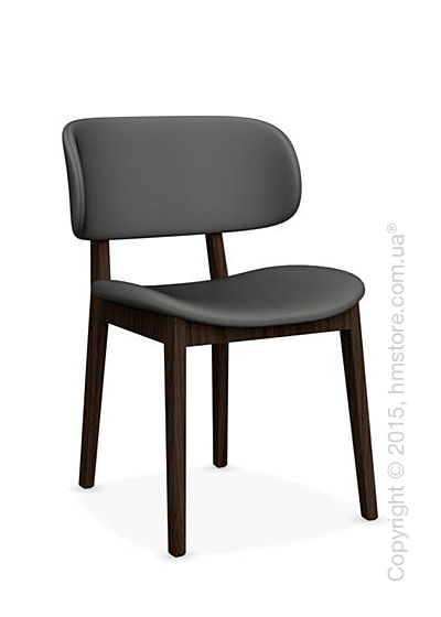 Стул Calligaris Claire, Ashwood smoke and Leather taupe