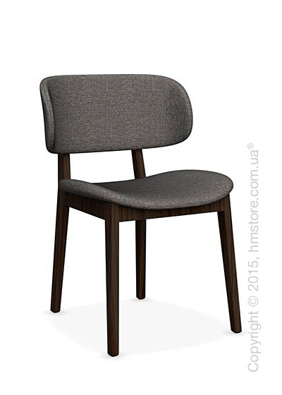 Стул Calligaris Claire, Ashwood smoke and Denver fabric taupe