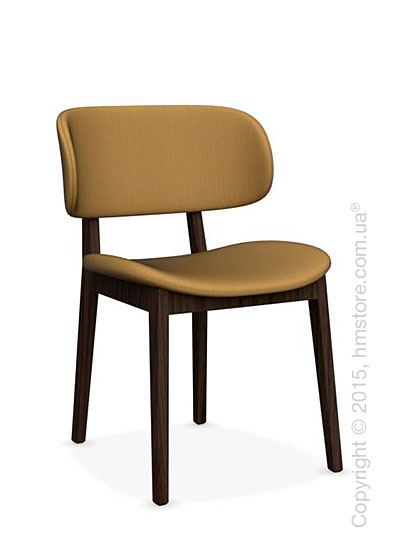 Стул Calligaris Claire, Ashwood smoke and Oslo fabric mustard yellow