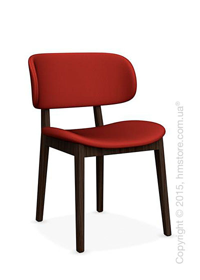 Стул Calligaris Claire, Ashwood smoke and Oslo fabric red