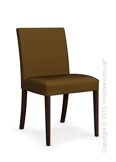 Стул Calligaris Dolcevita Low, Solid wood smoke and Oslo fabric olive green