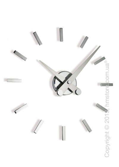 Часы настенные Nomon Puntos Suspensivos 12 I Wall Clock, Steel