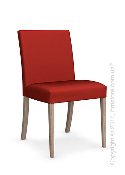 Стул Calligaris Dolcevita Low, Solid wood natural and Oslo fabric red