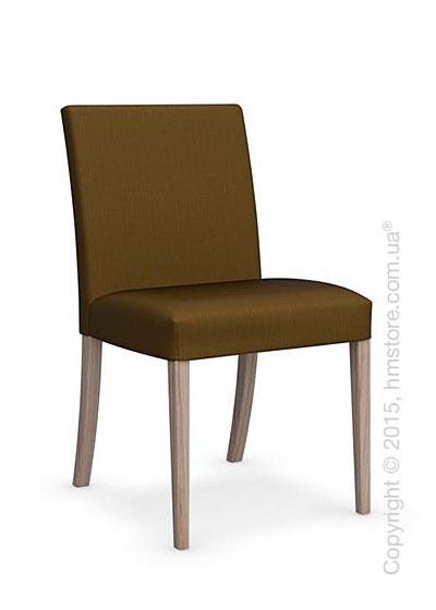 Стул Calligaris Dolcevita Low, Solid wood natural and Oslo fabric olive green