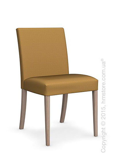 Стул Calligaris Dolcevita Low, Solid wood natural and Oslo fabric mustard yellow