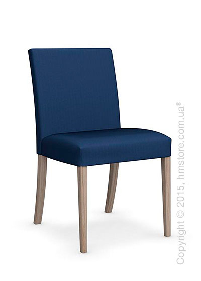 Стул Calligaris Dolcevita Low, Solid wood natural and Oslo fabric blue