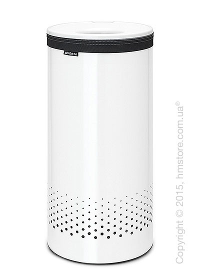 Бак для белья Brabantia Laundry Bin 35 л, Plastic Lid, White and White