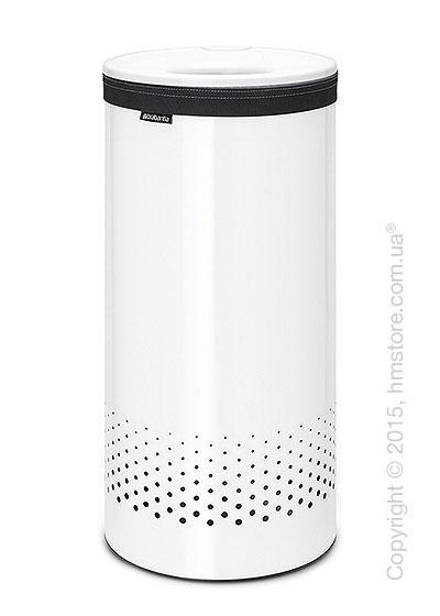 Бак для белья Brabantia Laundry Bin 35 л, Plastic Lid, White and White