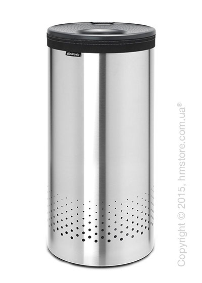 Бак для белья Brabantia Laundry Bin 35 л, Plastic Lid, Matt Steel and Cool Grey