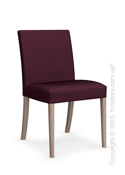 Стул Calligaris Dolcevita Low, Solid wood natural and Oslo fabric aubergine purple