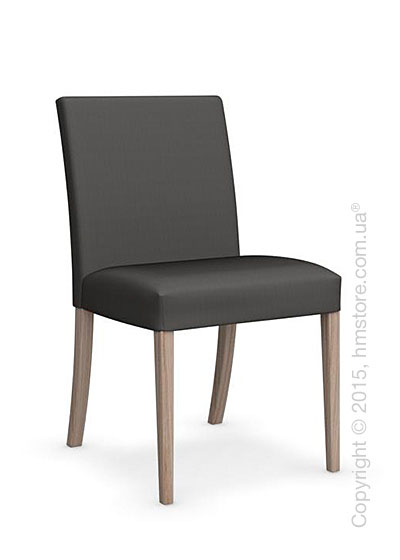 Стул Calligaris Dolcevita Low, Solid wood natural and Oslo fabric smoke grey