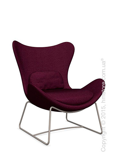 Кресло Calligaris Lazy, Metal matt taupe and Kama fabric purple