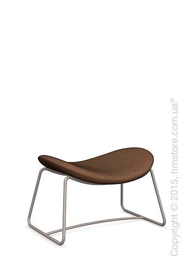 Подставка для ног Calligaris Lazy Ottoman, Metal matt taupe and Kama fabric taupe
