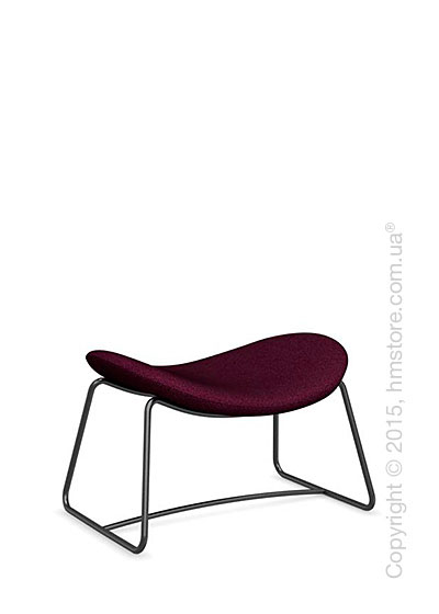 Подставка для ног Calligaris Lazy Ottoman, Metal matt black and Kama fabric purple