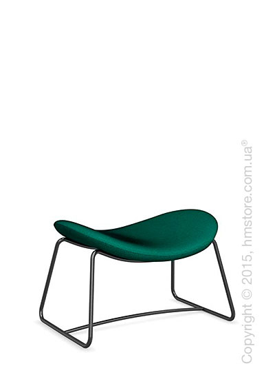 Подставка для ног Calligaris Lazy Ottoman, Metal matt black and Kama fabric laguna blue
