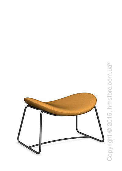 Подставка для ног Calligaris Lazy Ottoman, Metal matt black and Kama fabric mustard yellow
