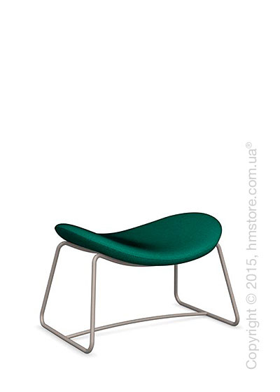 Подставка для ног Calligaris Lazy Ottoman, Metal matt taupe and Kama fabric laguna blue