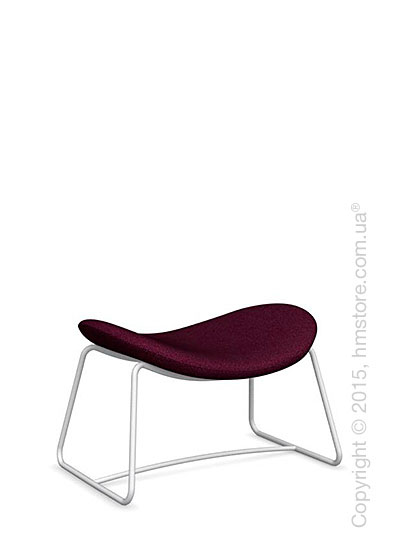 Подставка для ног Calligaris Lazy Ottoman, Metal matt optic white and Kama fabric purple