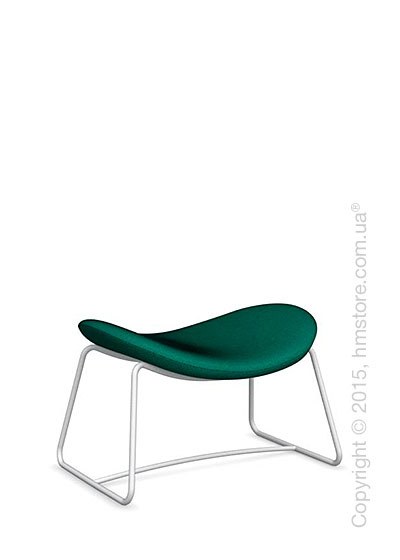 Подставка для ног Calligaris Lazy Ottoman, Metal matt optic white and Kama fabric laguna blue