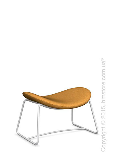 Подставка для ног Calligaris Lazy Ottoman, Metal matt optic white and Kama fabric mustard yellow