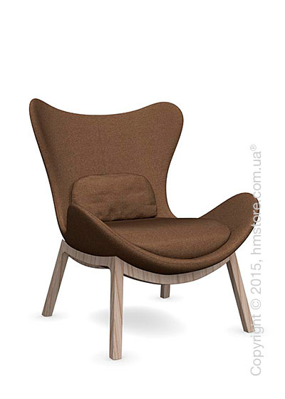 Кресло Calligaris Lazy, Ashwood natural and Kama fabric taupe