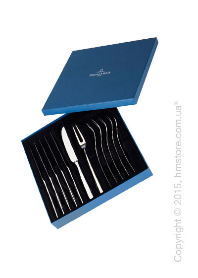 Набор приборов для стейка Villeroy & Boch коллекция Piemont Steakbesteck Set на 6 персон, 12 предметов
