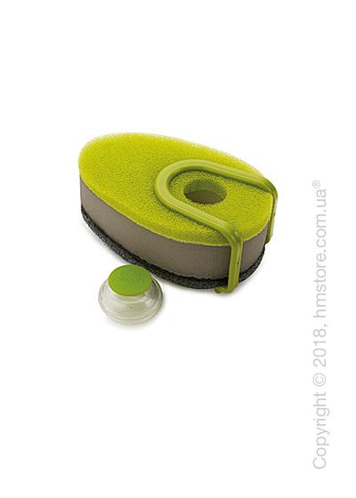 Губка для посуды с капсулой для моющего средства Joseph Joseph Soapy Sponge, Green