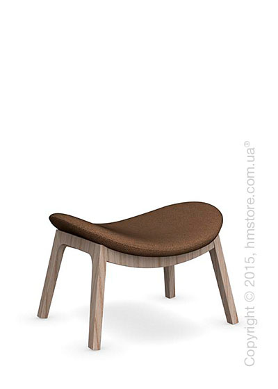 Подставка для ног Calligaris Lazy Ottoman, Ashwood natural and Kama fabric taupe