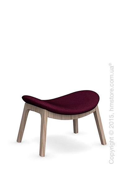 Подставка для ног Calligaris Lazy Ottoman, Ashwood natural and Kama fabric purple
