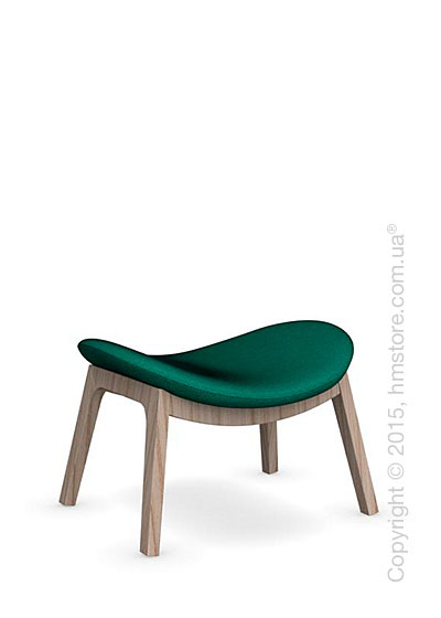 Подставка для ног Calligaris Lazy Ottoman, Ashwood natural and Kama fabric laguna blue