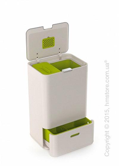 Универсальный контейнер для сортировки мусора Joseph Joseph Intelligent Waste Totem 50 л, White