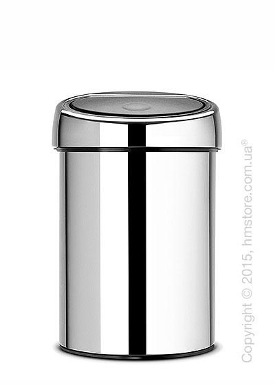 Ведро для мусора Brabantia Touch Bin 3 л, Brilliant Steel