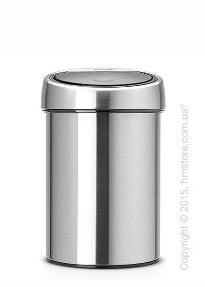 Ведро для мусора Brabantia Touch Bin 3 л, Matt Steel