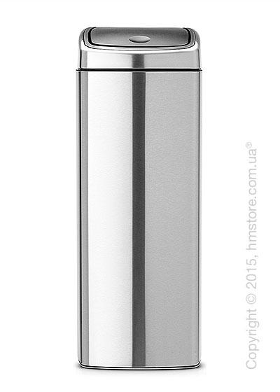Ведро для мусора Brabantia Touch Bin 25 л, Matt Steel Fingerprint Proof