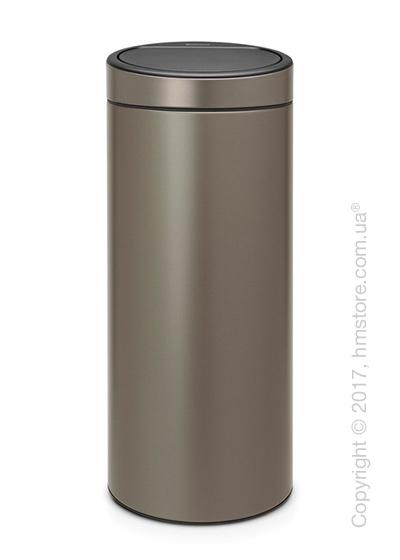 Ведро для мусора Brabantia Touch Bin New 30 л, Platinum