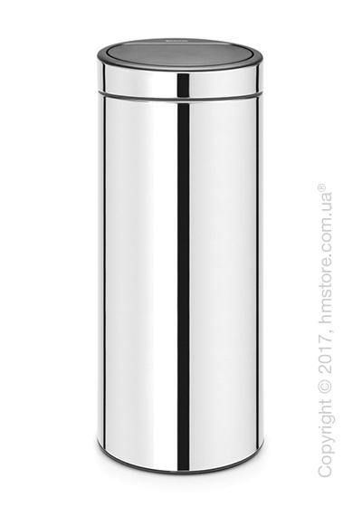 Ведро для мусора Brabantia Touch Bin New 30 л, Brilliant Steel