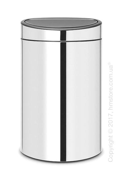 Ведро для мусора двухсекционное Brabantia Touch Bin New Recycle 23/10, Brilliant Steel